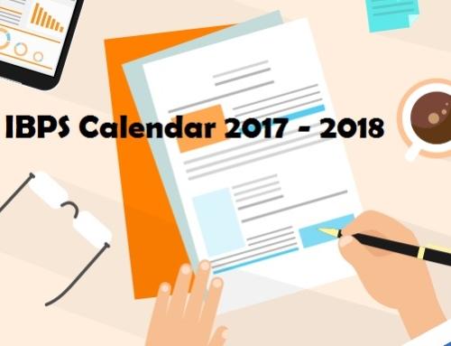 Guide to IBPS Calendar 2017-2018